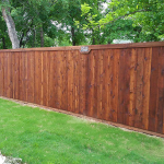 standard wood fence front stained