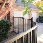 Contoured Iron Fence