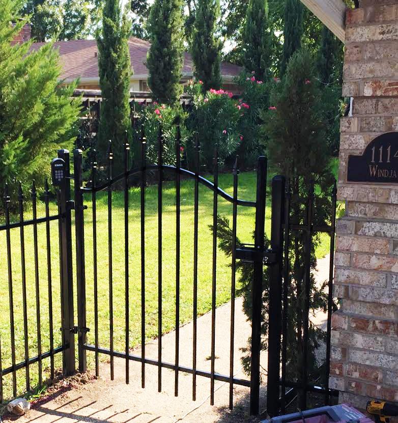 custom metal gate wrought iron fences frisco tx handrails aluminum