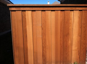 cedar wood privacy fence Denton tx 8 ft board on board