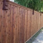 Cedar Wood Fence w/ Corbels