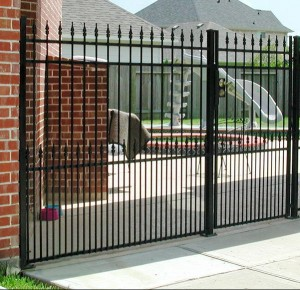iron fencing denton black metal fence denton installation