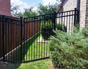 steel fences black metal fencing
