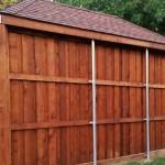 8 ft tall board on board cedar wood fence