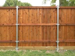 6 ft Tall Cedar Side by Side Fence Fort Worth TX
