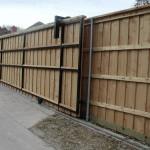 Sliding Driveway Gate w/ Cedar Privacy Fence