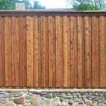 Cedar Privacy Fence w/ Retaining Wall