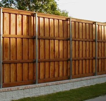 8 ft cedar board on board fence fort worth tx
