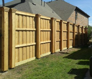 6 ft 8 ft cedar wood board on board fences pre stained pickets