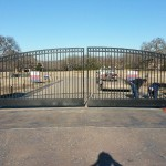 Entry Gate for Gated Community w/ Telephone Access Panel