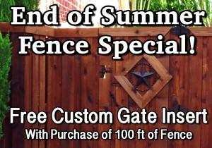 Fence Specials Discounts