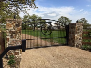 driveway gate wrought iron denton installation companies