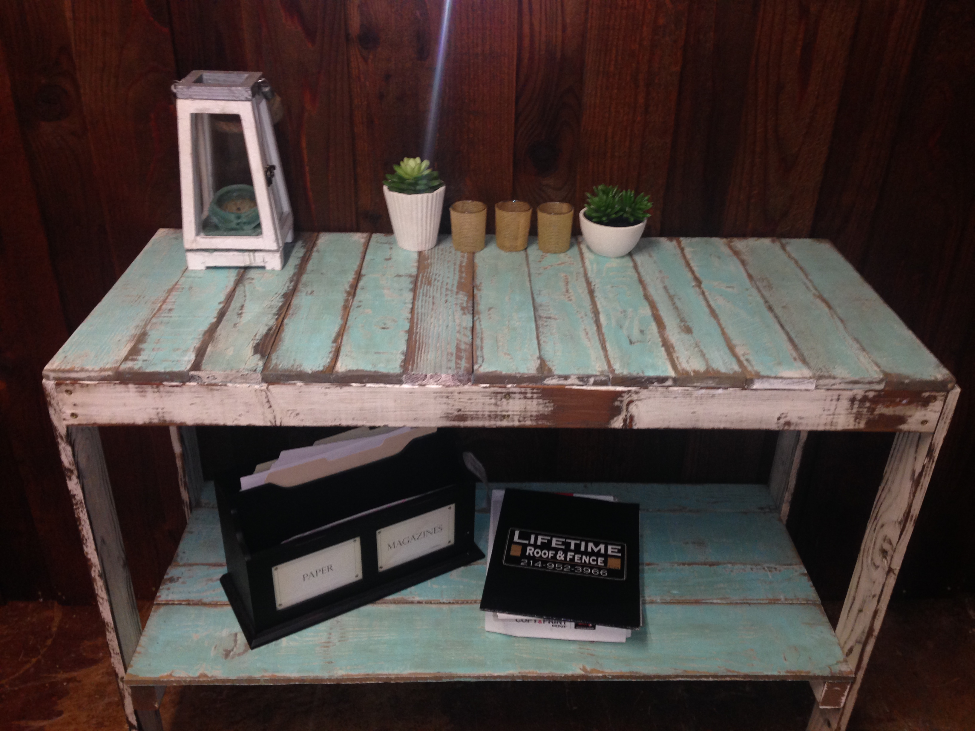 Project ideas for used fence wood recycled fence wood furniture table made from used fence pickets baanklon Image collections