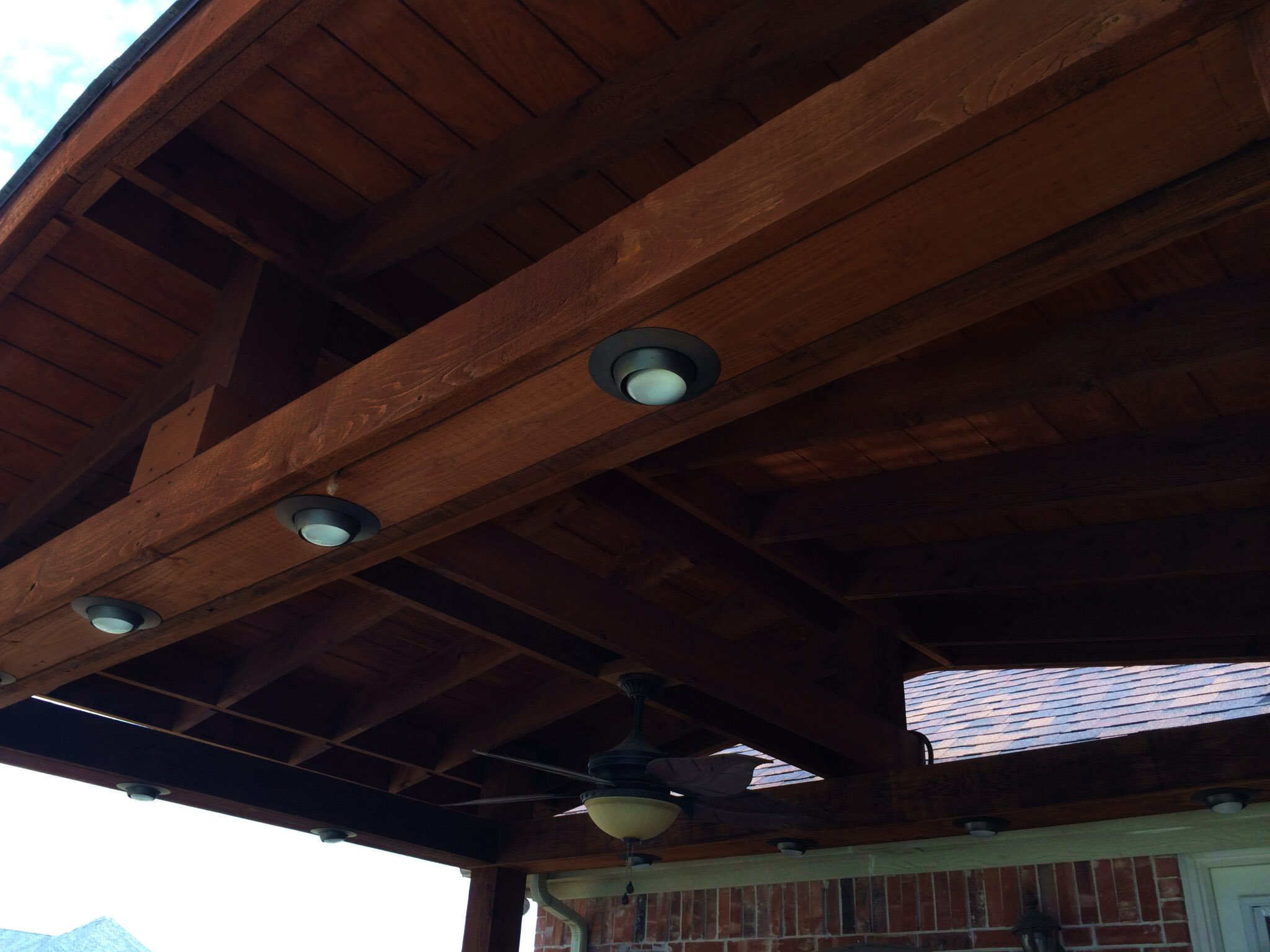 Shingled Patio Cover View From Underneath