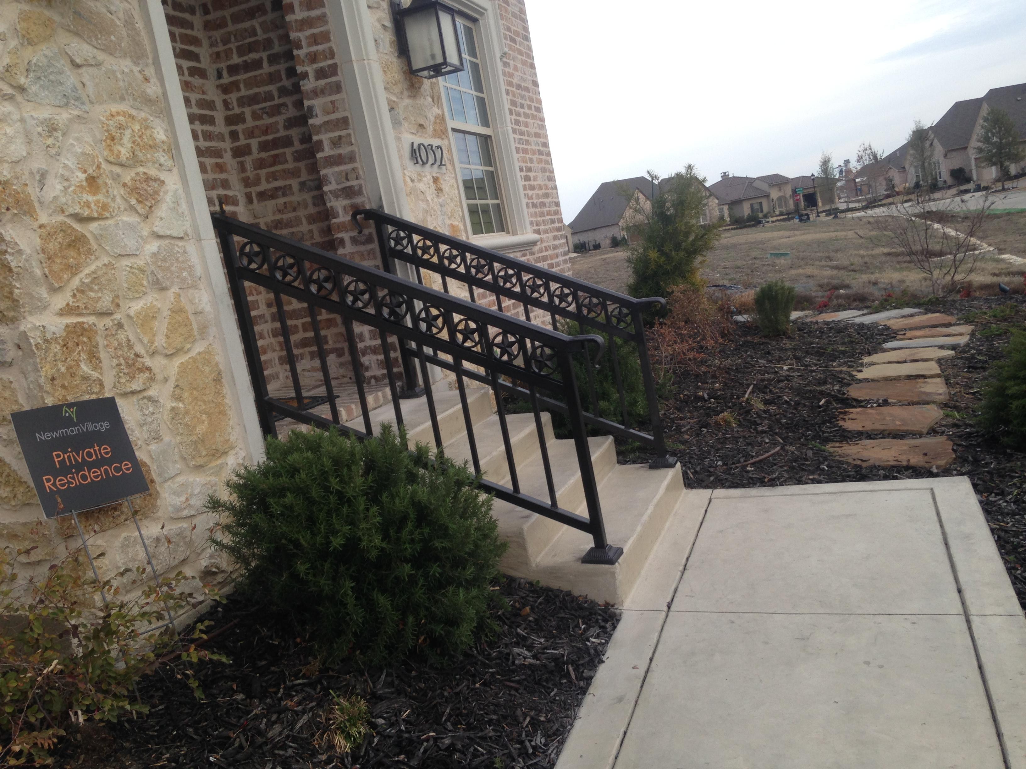 ... Custom Iron Handrail Installation Stairway Railing ...