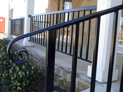 iron handrails highland village fence companies