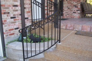 stairway railings custom iron handrail installation