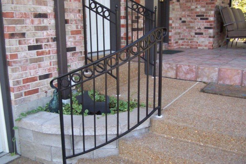 ... Stairway Railings Custom Iron Handrail Installation