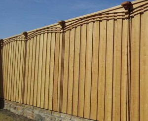 privacy fences prestained board on board fences 8 ft 7 ft