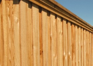 Cedar Fence Cap Trim Board-on-Board prestained pickets