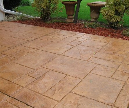 backyard patio concrete stamped concrete patio companies