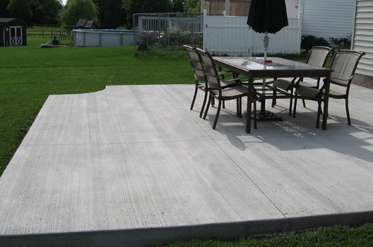 concrete patio companies basic backyard patio