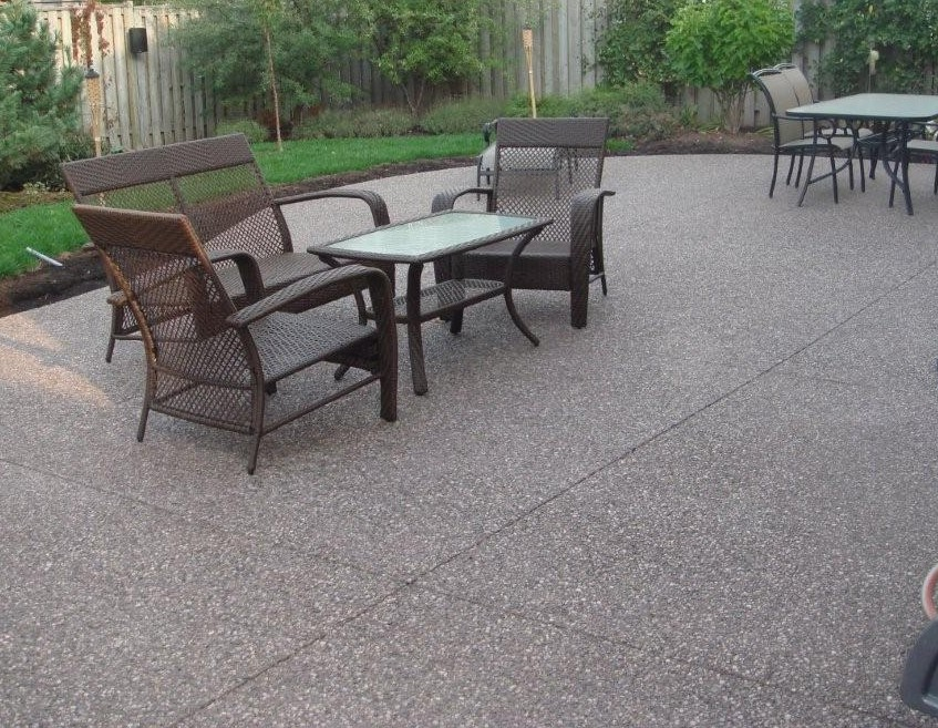 Broom Finish Concrete Patio