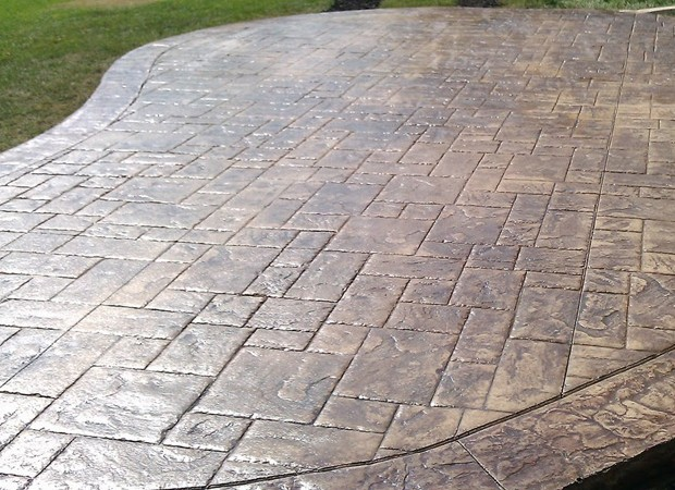 stamped concrete patio backyard patio contractors