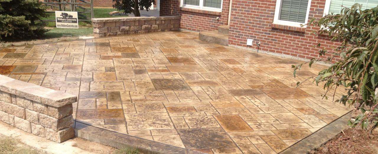 Stamped Concrete Patio : Lifetime fence company companies roofing
