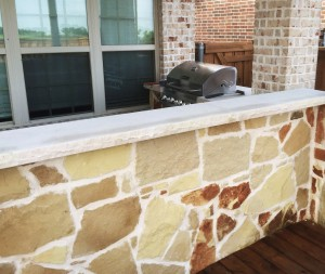 stone counters outdoor kitchen outdoor living area