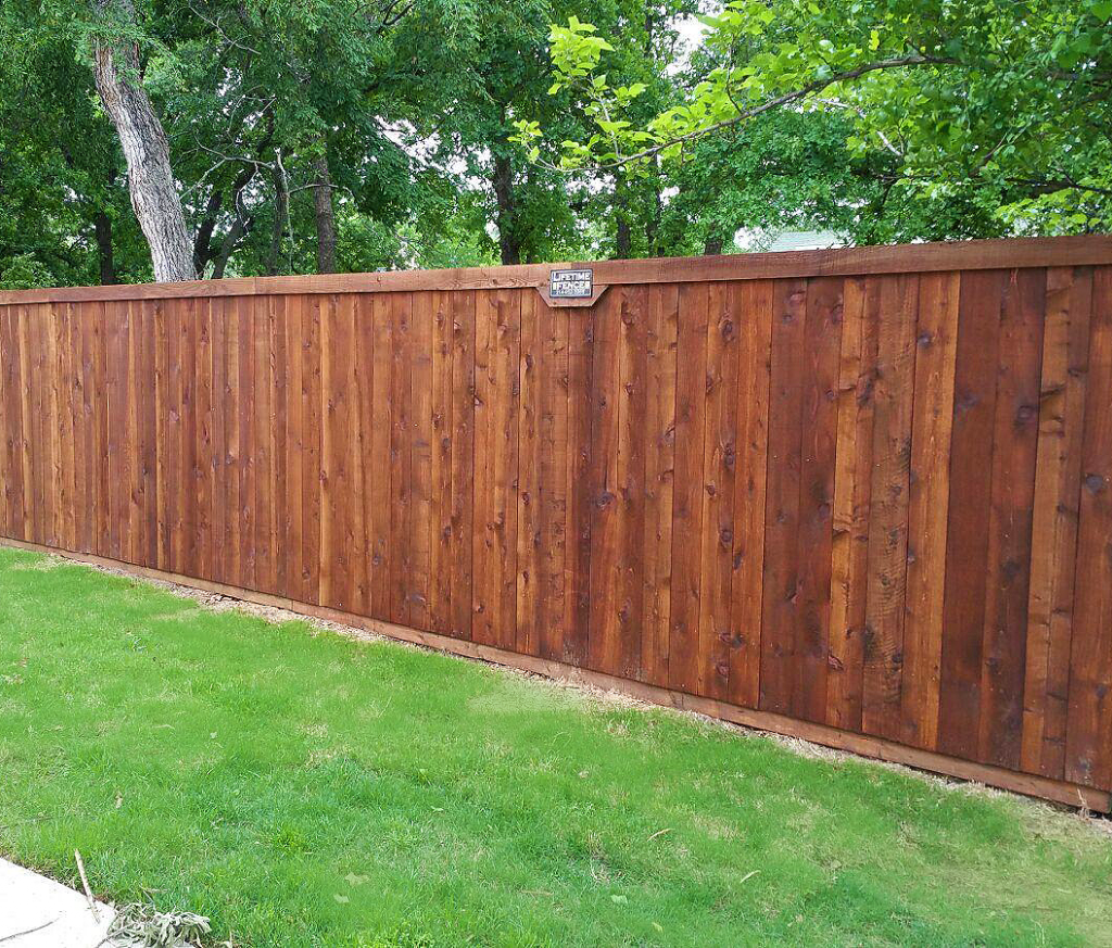 Standard Wood Fence Front Stained Fence Companies Gate