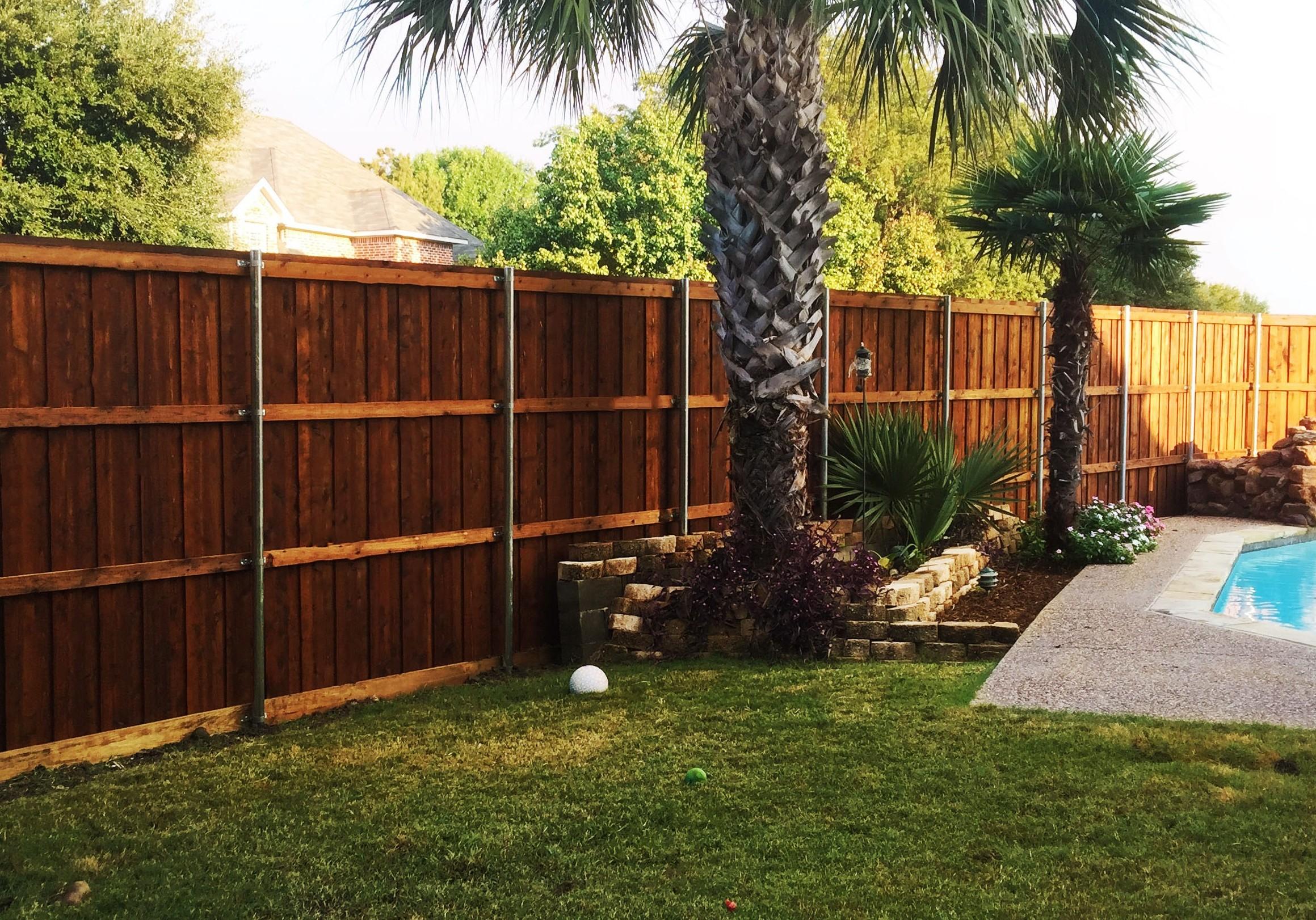8 ft tall board on board cedar backyard fence | Fence ...