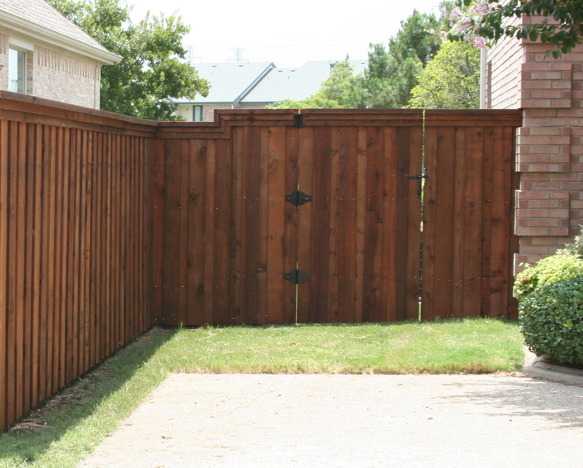 Board On Board Fence Trim And Cap Fence Companies Gate