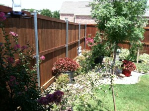 6 ft tall wood fence with metal poles fort worth tx