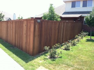 6 ft Tall Cedar Wood Fence - Standard Fence