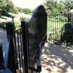 Metal Fence w/ Matching Automatic Driveway Gate
