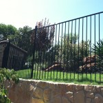 5 ft tall Metal Fence on Retaining Wall