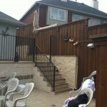 Metal Pool Fence w/ Railing