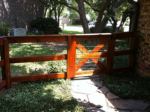 split rail fences Houston TX ranch style fences horse fences