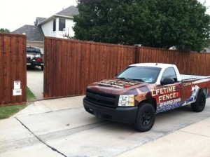 Sliding wood gate automatic electric driveway Denton tx