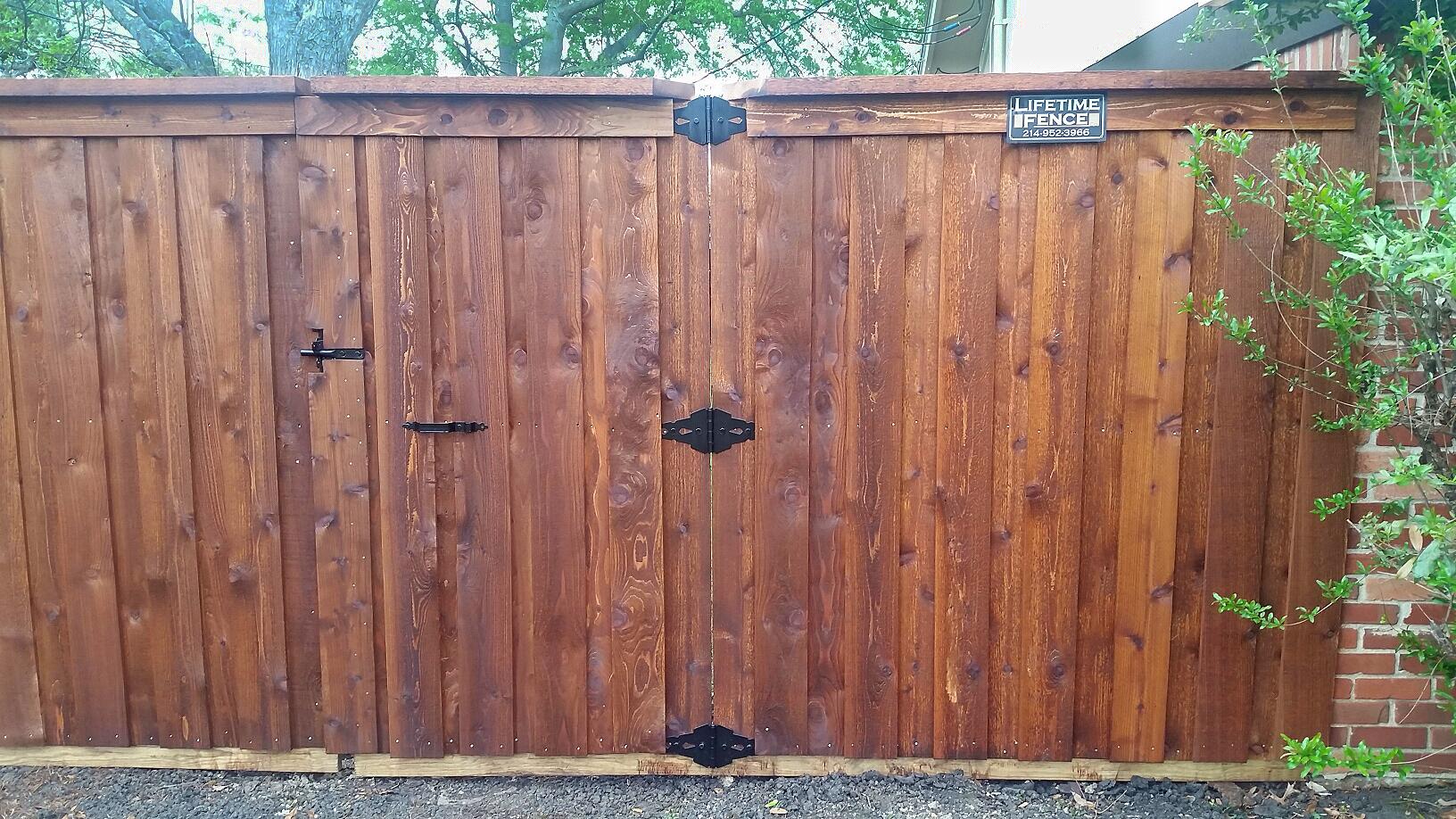 6 Ft Board On Board Gate Cap Fence Companies Gate
