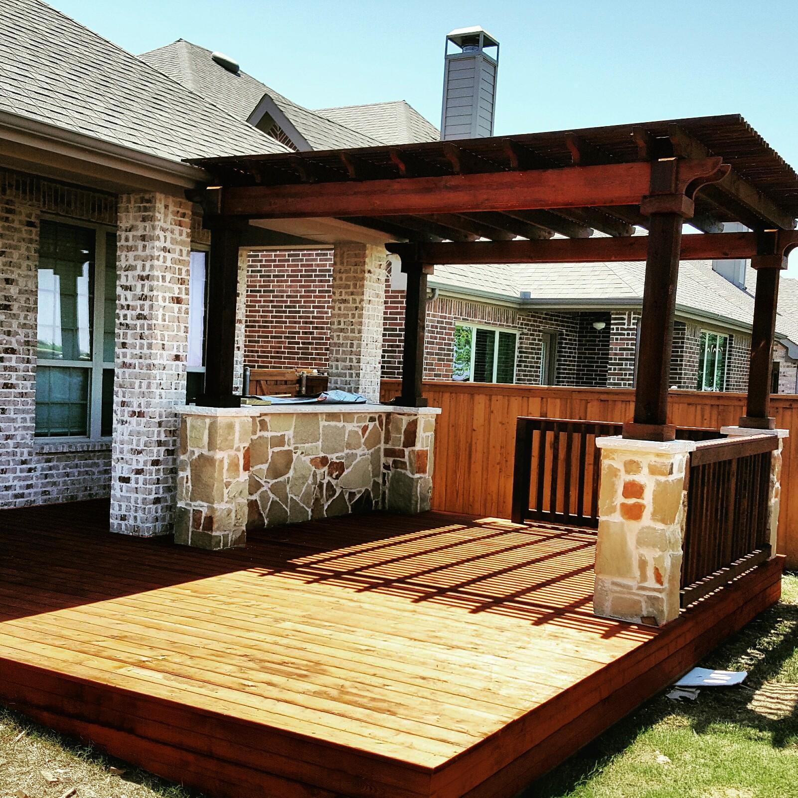 Backyard Decks With Pergolas Shapeyourminds Com