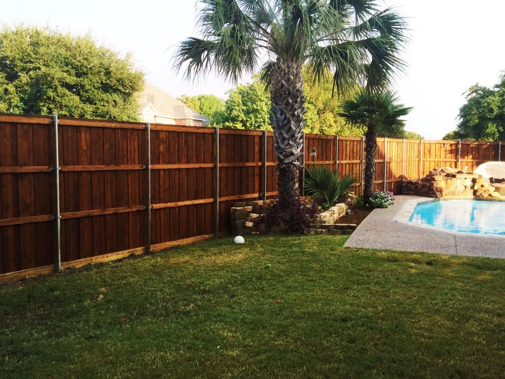 8 ft tall board on board cedar backyard fence