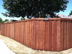privacy fences Lewisville tx cedar board on board fences
