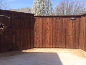 privacy wood fences Denton tx 8 ft board on board cedar wood fences