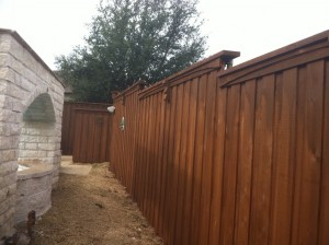 privacy wood fence Denton tx wood 8 ft board on board fences Denton