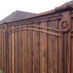 Privacy Wood Fence w/ Custom Corbels