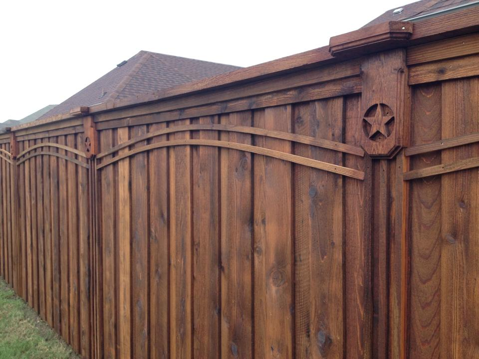 Privacy Wood Fence w/ Custom Corbels
