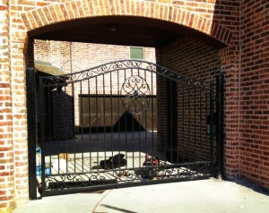 driveway gate installation denton iron gate solar electric