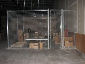 warehouse fence chain link dallas indoor chain link